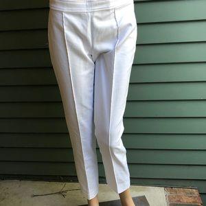 Ralph Lauren White Stretch Capri Pants